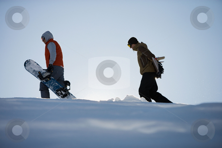 MPIXIS570224 stock photo, Two snowboarders by Mpixis World