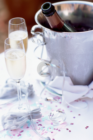 MPIXIS555059 stock photo, Champagne flutes and ice bucket by Mpixis World