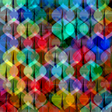Pattern with colorful balls stock photo, Many coloured balls in pattern on black background by Wino Evertz