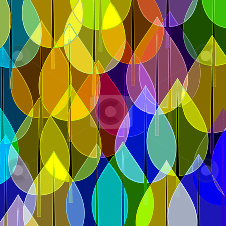 Pattern with water droplets stock photo, Many coloured balls in pattern on black background by Wino Evertz