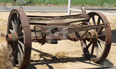 Antique Wagon Wheels stock photo, Old Wagon Wheels by Joseph Ligori