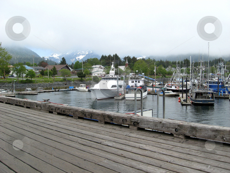 Marina Dock  stock photo, Boat Dock by Joseph Ligori