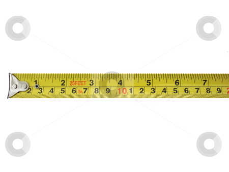 Tape measure. stock photo, Tape measure isolated on white. by Todd Dixon