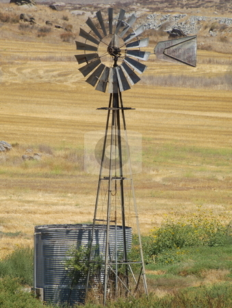 Water Windmill stock photo, Water Windmill by Joseph Ligori