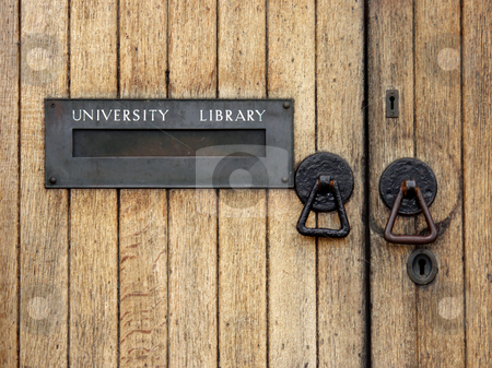 University library entrance  stock photo, University library entrance  with letterbox by Laurent Dambies