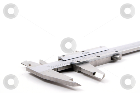 Calipers stock photo, A set of Vernier calipers ready for some exciting measuring action. by Robert Byron