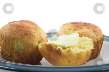 Cornbread Muffins stock photo, Delicious cornbread muffins: a southern USA tradition. by Robert Byron