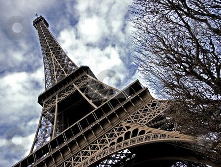 Eiffel tower  stock photo, The Eiffel tower in Paris by Heiko Riemann
