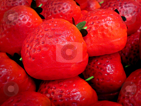 Strawberries stock photo, A sea of strawberries by Heiko Riemann