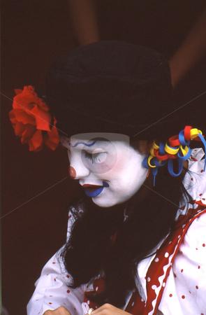 Clown stock photo, Clown at fair. Costumed facepainter by Joseph Ligori