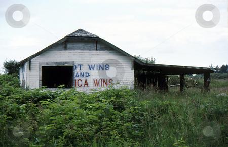 Old Barn in field stock photo, Old Barn in field Abandoned by Joseph Ligori