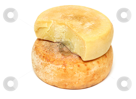 Peasant cheese stock photo, Two pieces of ripe peasant cheese in a stack by Natalia Macheda