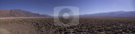 Devil's Golf Course stock photo, A panoramic view of Death Valley's