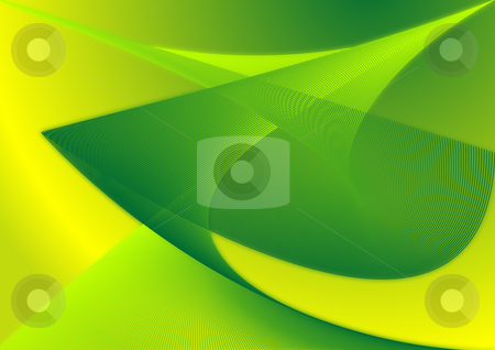 Green Theme Abstract stock photo, A green and yellow abstract of curves and waves made entirely of straight lines! by Wilson Saliu