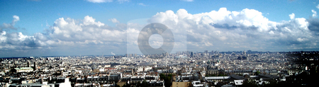 Panorama of Paris stock photo, Panoramic view of Paris by Heiko Riemann