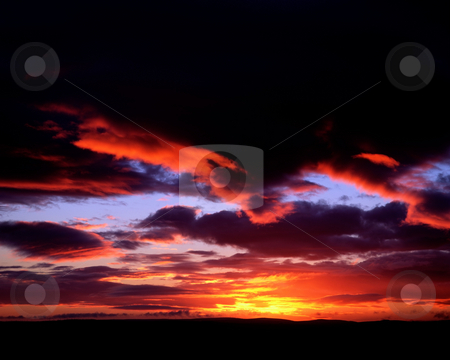 MPIXIS250509 stock photo, Sunset over cloudy sky by Mpixis World