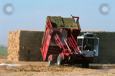 MPIXIS250584 stock photo, Farmer baling hay by Mpixis World