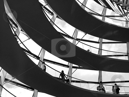 German Bundestag stock photo, Corkskrew stair in the german Bundestag by Heiko Riemann
