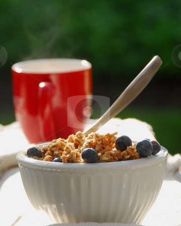 Coffee and Cereal stock photo, Coffee and and Cereal in the morning by Timothy OLeary