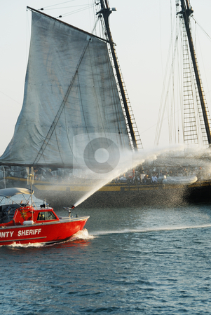 Firefighting Boat stock photo,  by Timothy OLeary