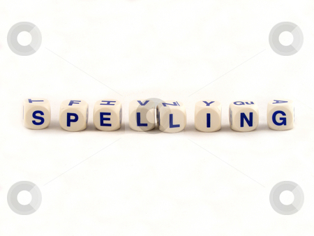Spelling Blocks stock photo, Spelling blocks spelling spelling by Adrian Mace