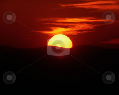 MPIXIS250515 stock photo, Sunset over hills by Mpixis World