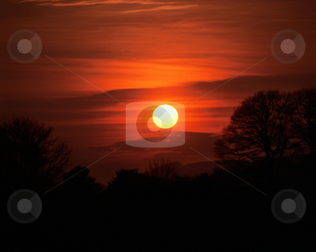 MPIXIS250518 stock photo, Sunset over hills by Mpixis World