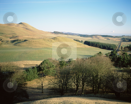 MPIXIS250902 stock photo, View of dolphinton from pentland hills scotland by Mpixis World