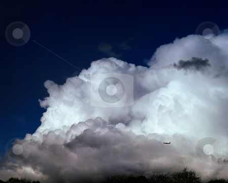 Large cloud stock photo, From an Aeroplane flying near large cloud by Mpixis World