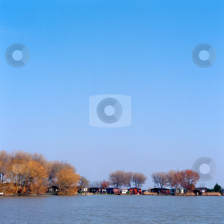 MPIXIS250305 stock photo, River coast and sky by Mpixis World