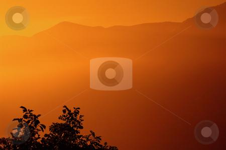MPIXIS250465 stock photo, Orange mist over mountains by Mpixis World
