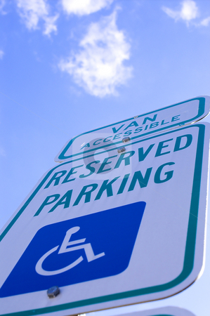 Handicap Parking stock photo, A parking space for those people who are legally handicapped. by Robert Byron