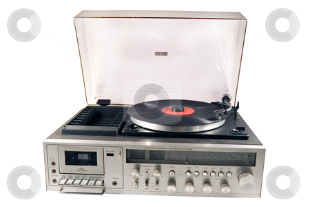 Old Stereo  stock photo, Retro old stereo set by Paulo Resende