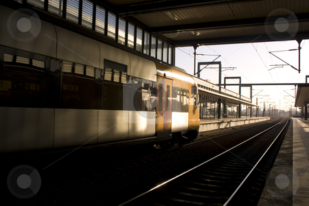 Departing Train stock photo, Train on staition ready for departer by Paulo Resende