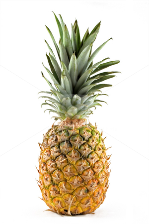 Pineapple stock photo, Pineapple isolated on white by Paulo Resende