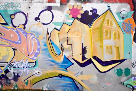 Graffiti stock photo, Graffiti tag in abondon house by Paulo Resende