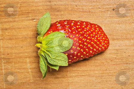 Fresh and tasty strawberrie stock photo, Fresh and tasty strawberrie isolated on wooden background by Pablo Caridad
