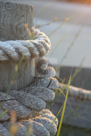 Boardwalk rope stock photo,  by Caitlin Giles