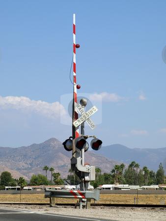 Railroad Crossing Signa stock photo, Railroad Crossing Signal by Joseph Ligori