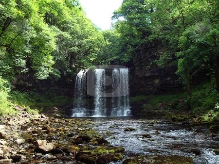 Waterfall stock photo,  by David Nebesky