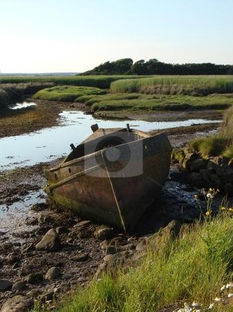 Old boat stock photo,  by David Nebesky