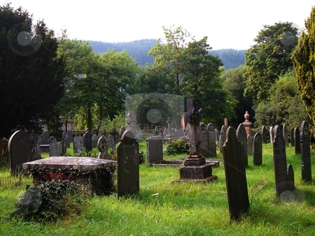Old Village Cemetery stock photo,  by David Nebesky