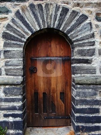 Old wooden door stock photo,  by David Nebesky