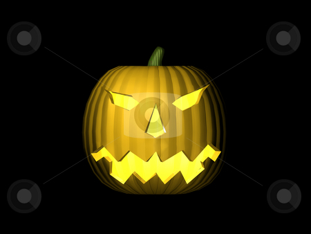 3D Pumpkin Lit stock photo, 3D Pumpkin Lit by John Teeter