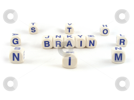 Brain Storming stock photo, Brain Storming Written with Spelling Blocks Isolated on a White Background by Adrian Mace