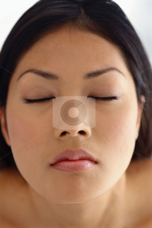 MPIXIS599033 stock photo, Portrait of woman with eyes closed by Mpixis World