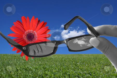 Change your glasses stock photo, Change your glasses and carry lenses to see the life in color. by Serge VILLA