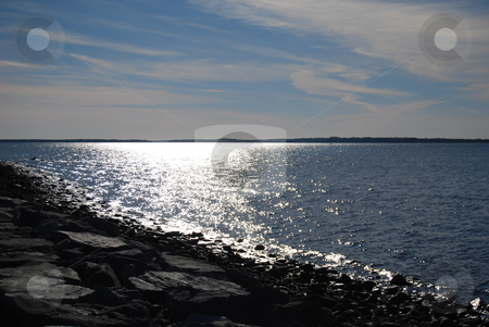 Ocean stock photo, Sun reflecting off of the ocean by Bill Parmentier