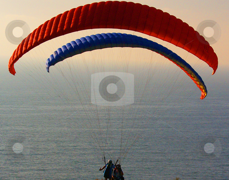 Paraglider getting ready to take off stock photo,  by Timothy OLeary