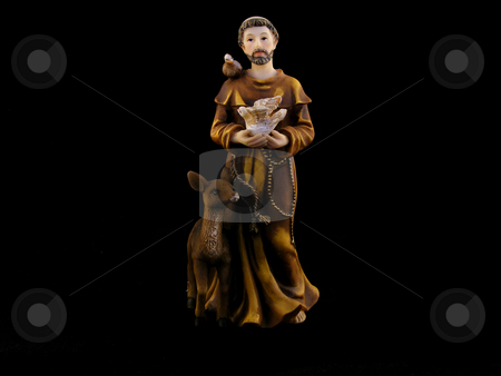 Holy Saint stock photo, A Holy Saint on a Black Background by Adrian Mace